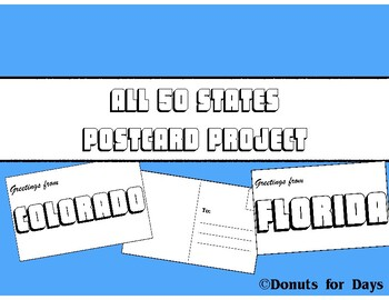 Create a State Postcard Project - All 50 States!