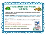 Create a Word/Story Problem From a Number Sentence Task Cards