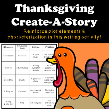 Create a Story - Story Plot and Characterization Writing Activity | Thanksgiving