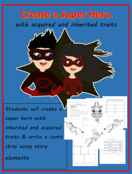 Create a Superhero (with inherited and acquired traits)