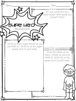 Narrative Writing: Create a Super Hero