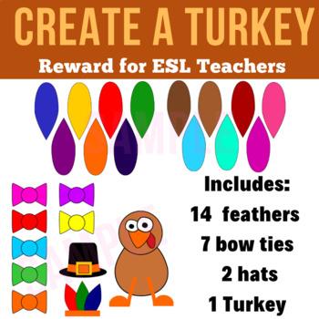Create a TURKEY Reward | PDF Print Ready | Thanksgiving | VIPKid, Gogokid, ESL
