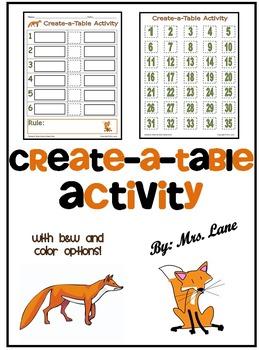 Create-a-Table Activity