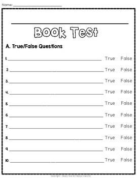 True False Test Template from ecdn.teacherspayteachers.com