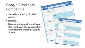 Create a Text Conversation Literature Activity - Google Classroom Compatible