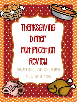 Create a Thanksgiving Dinner: Multiplication Review