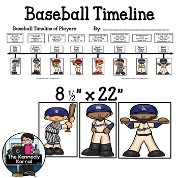 Baseball Timeline {Eight Baseball Players and Stats from 1