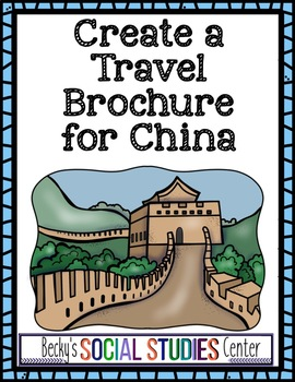 china activity project create a travel brochure tpt