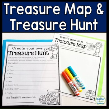 Treasure Map and Treasure Hunt:Cardinal and Intermediate Directions Activity!
