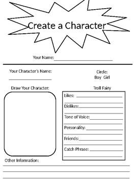 Create a Troll/Fairy Handout