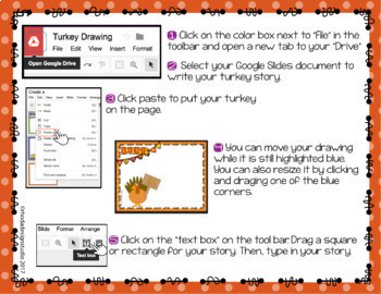 Create a Turkey and Write a Story with Google Drawings and Google Slides