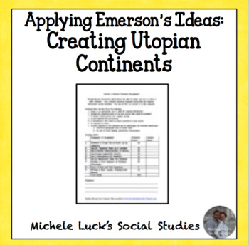 Create a Utopian Continent Assignment Emerson American Authors