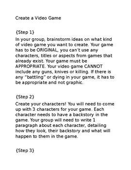 Create a Video Game!