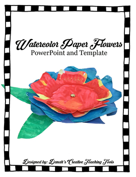 Create a Watercolor Paper Flower (Step by Step Directions, Template)