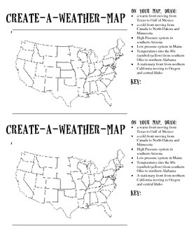 create a weather map by becca campbell teachers pay teachers. Black Bedroom Furniture Sets. Home Design Ideas