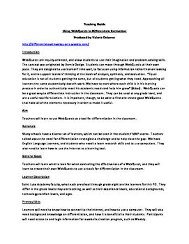 Create a WebQuest Online Professional Development