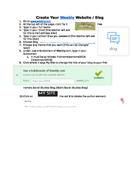 Create a Website / Blog Student Guide (Weebly)