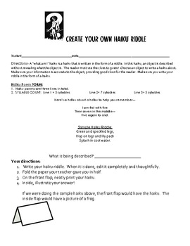 Create a Winter Windsock - Creative Writing Teaching Packet