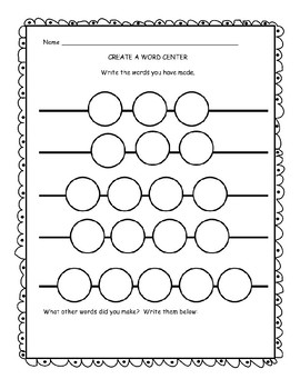 Create a Word Center