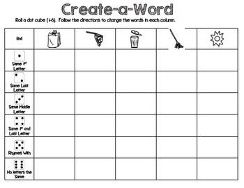 Create-a-Word Phonics Game