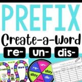 Create-a-Word Prefix Game (re, dis, un)