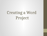 Create a Word Project