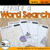 Create a Word Search Monthly Templates