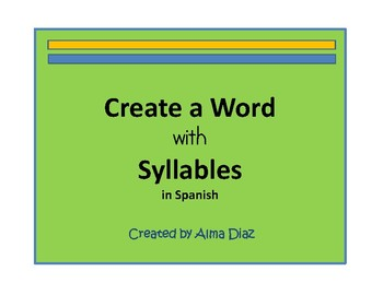 Create a Word with Syllables in Spanish
