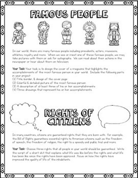Create a Culture and a World - Social Studies Project for Enrichment & Elective