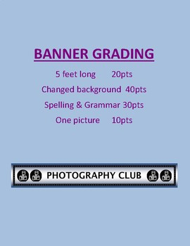 Create a banner in Publisher Assignment