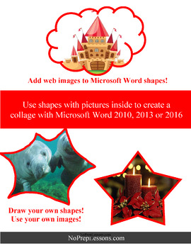 Create a collage with Microsoft Word 2010, 2013 and 2016