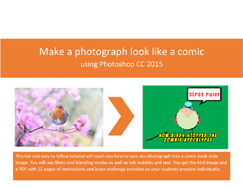 Create a comic book effect - A Photoshop CC step-by-step lesson.