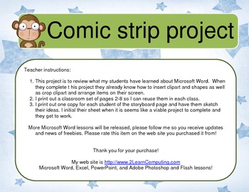 Create a comic strip with Microsoft Word 2007 - 2019