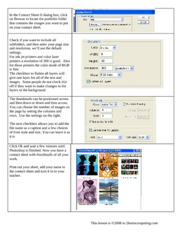 Create a contact sheet with Photoshop CS2 or CS3: video updated