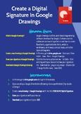 Create a digital signature in Google Drawings