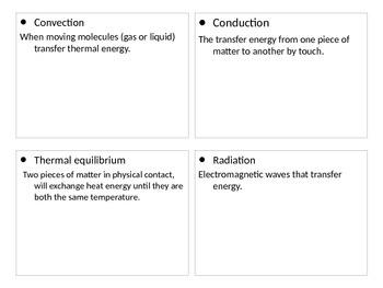 Energy flash cards