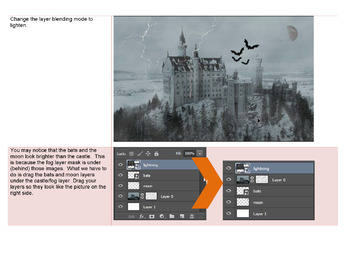 Haunted castle with Photoshop CS3/CS4 or CS5/CS6 - 2 sets of instructions!