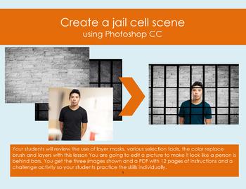 Create a jail scene - A Photoshop CC step-by-step lesson.