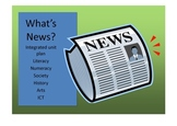 Create a newspaper literacy unit lesson plan on newspapers
