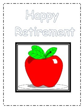 Create a retirement booklet for a teacher