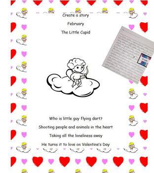 Create a story February Valentines Cupid Crafitivity