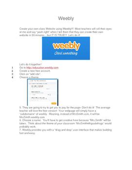 Create a teacher website!  Free and Easy!