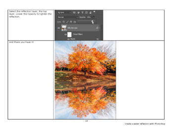 Create a water reflection using Photoshop CC - graphic design lesson