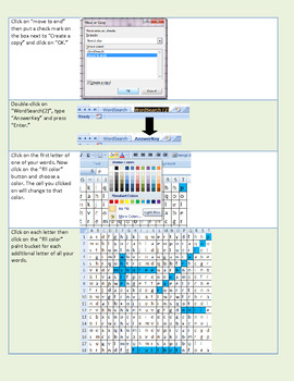 Create a word search with Microsoft Office Excel