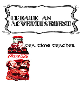 Create an Advertisement - Media Literacy activity