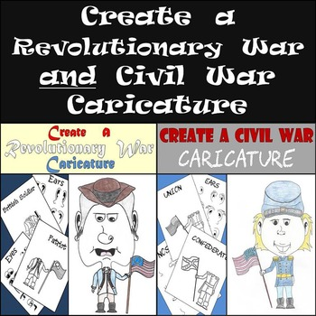 Create an American Revolution & Civil War Caricature - Lots of Fun! - Save 25%!!