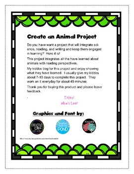 Create an Animal Project