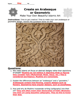 Arabesques: Create Your Own Design / Islamic Art / Middle Eastern Culture