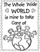 """Create an Earth Day Book """"The Whole Wide World is Mine to Take Care Of"""""""