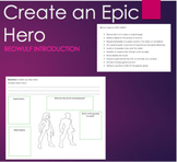 Create an Epic Hero - Use with Beowulf Introduction or oth